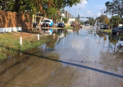 Water Flowing Toward Camera on NE 10 Ave.
