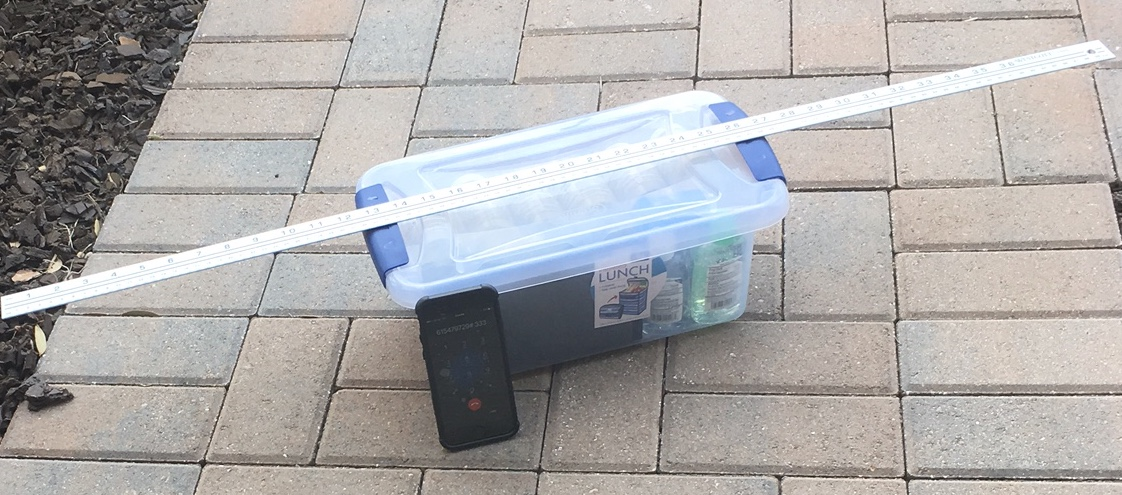 Community King Tide Field Test Kit with Measuring Stick 18Sep2017