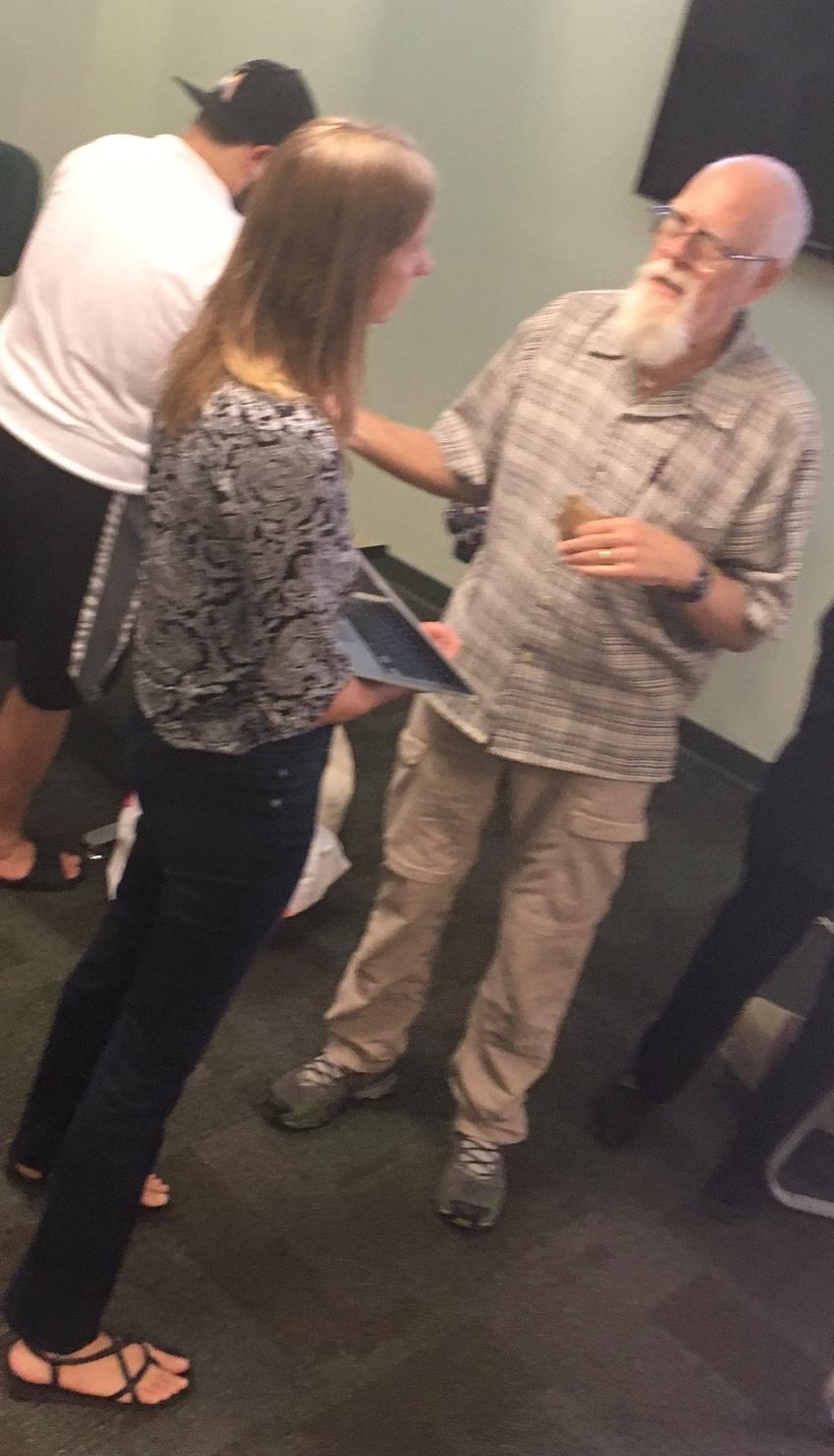 John Scott and Dr. Tiffany Troxler FIU Training Session 18Sep2017
